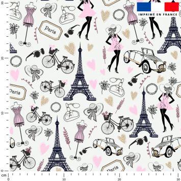 Paris rose et gold - Fond blanc