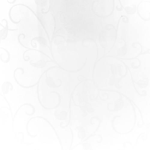 coupon - Coupon 100cm - Tissu jacquard blanc anti-tâche motif arabesque grande largeur