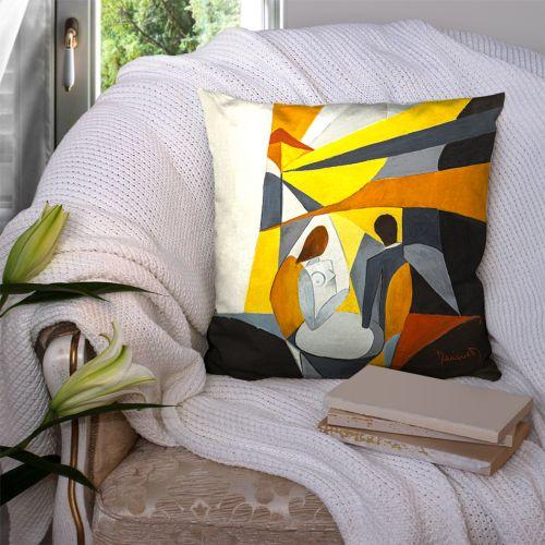 Coupon 45x45 cm Duo - Création Monique.D
