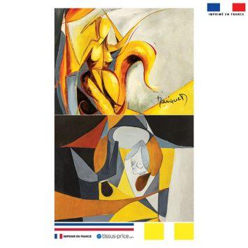 Kit pochette motif Duo et Fantasme - Création Monique.D