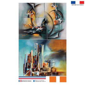 Kit pochette motif villes - Création Monique.D