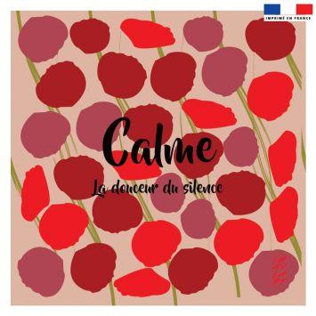 Coupon 45x45 cm motif Calme - Création Chaylart