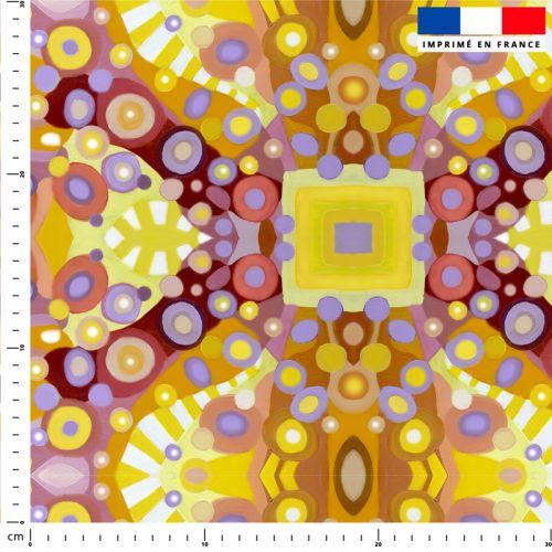 Sphères - Fond multicolore - Création Lita Blanc