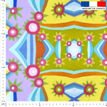 Triangle et cercle - Fond violet - Création Lita Blanc