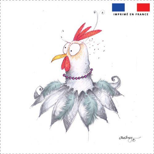 Coupon toile canvas poulette - Création Audrey Baudo