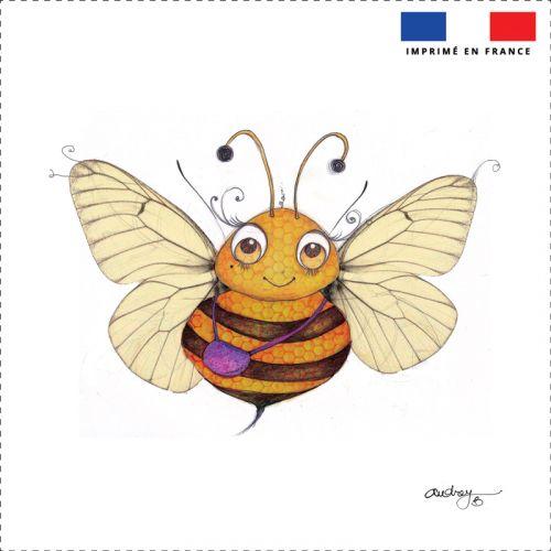Coupon toile canvas abeille - Création Audrey Baudo