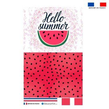 Kit pochette motif pastèque summer