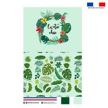 Kit pochette motif exotic chic
