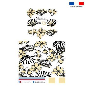 Kit pochette noire motif maman en or
