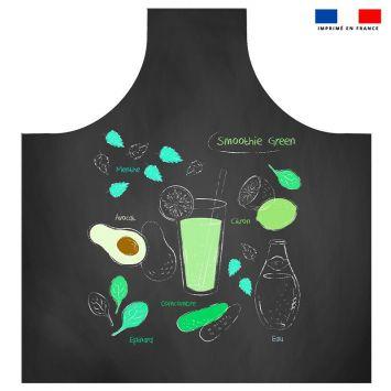 Patron imprimé sur canvas pour tablier motif smoothie green