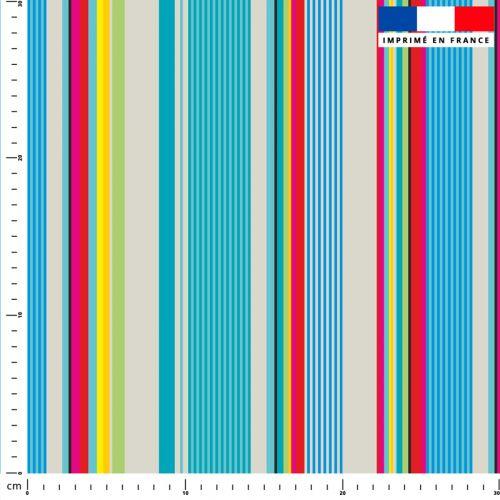 Bayadère multicolore - Création Lita Blanc