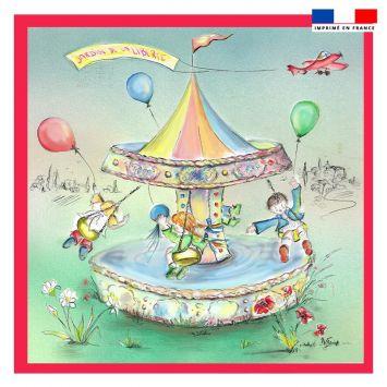 Coupon 45x45 cm motif jardin de la liberté - Création Véronique Baccino