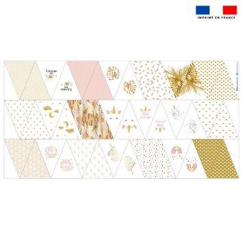 Coupon burlington pour fanions motif licorne gold