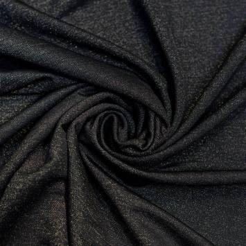 coupon - Coupon 30cm - Tissu microfibre noir nacré et brillant