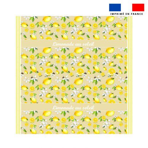 Coupon éponge pour serviette de plage double jaune motif citron