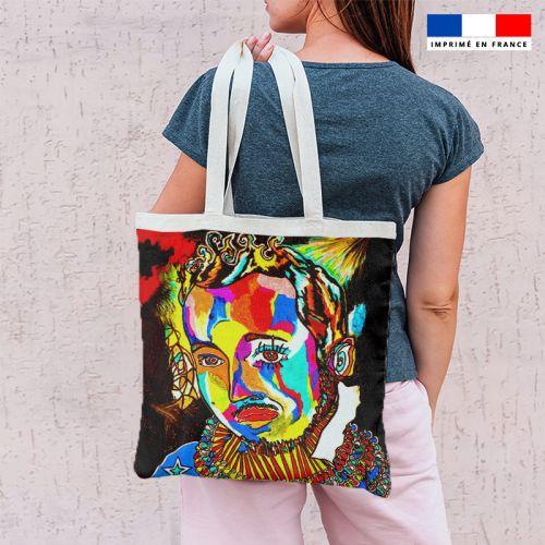 Coupon 45x45 cm motif homme et réflexion - Création Razowsky