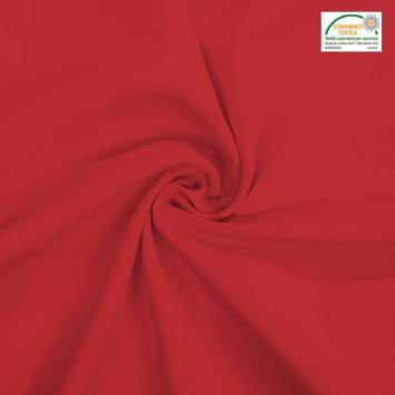coupon - Coupon 82cm - Burlington infroissable Oeko-tex rouge carmin