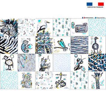 Coupon éponge pour lingettes démaquillantes motif animaux - Création Razowsky