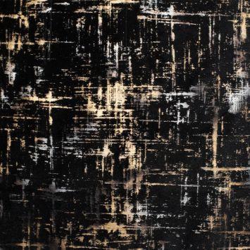 Tissu velours frappé Astral noir Oeko-tex