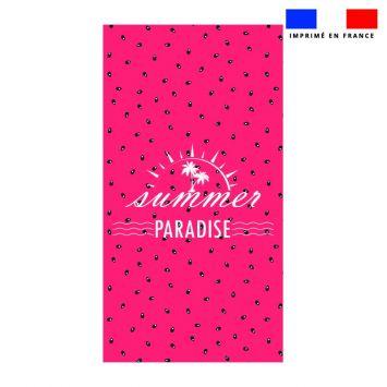 Coupon éponge pour serviette de plage simple motif summer paradise