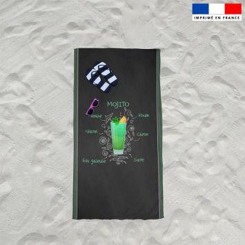 Coupon éponge pour serviette de plage simple motif mojito