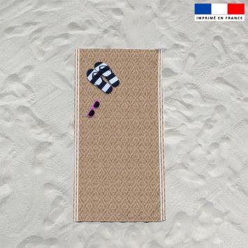 Coupon éponge pour serviette de plage simple texture rotin