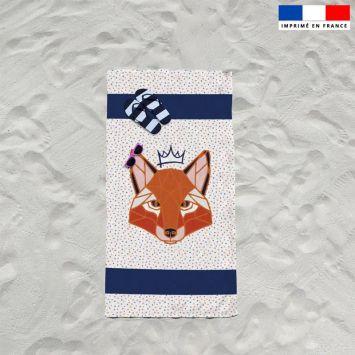 Coupon éponge pour serviette de plage simple motif renard