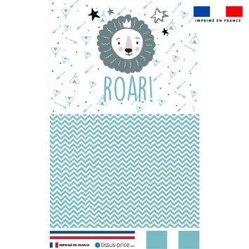 Kit pochette motif baby bleu et gris