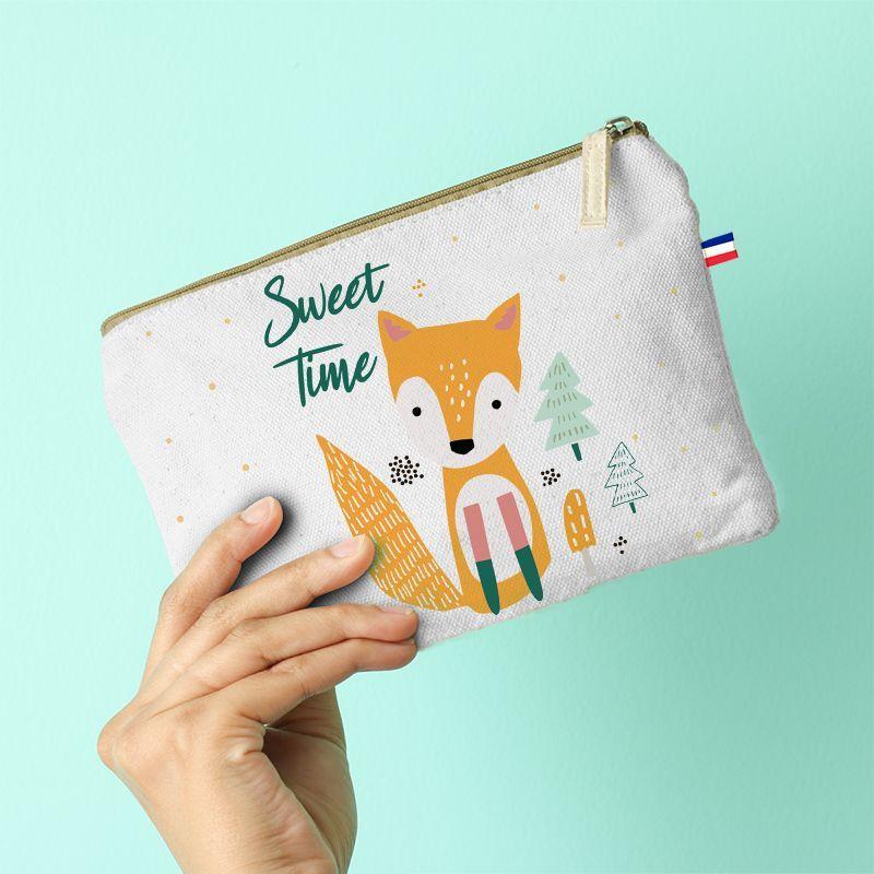 Kit pochette motif animaux de la forêt