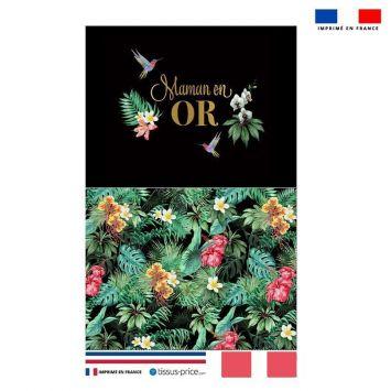 Kit pochette noire motif maman exotique
