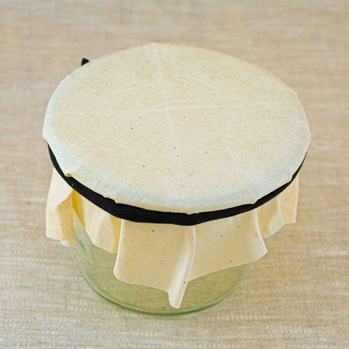 Tissu de contact alimentaire enduit à la cire d'abeille bio