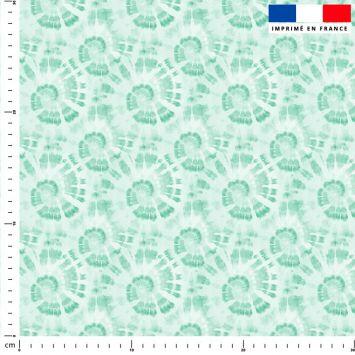 Tie and dye effet spirale - Fond vert pastel