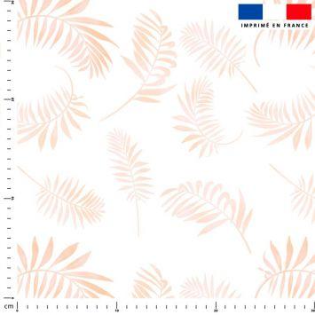 Tie and dye et palme effet aquarelle - Fond blanc