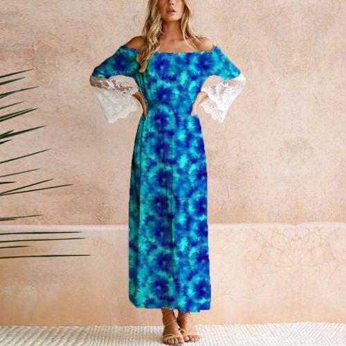 Tie and dye effet aquarelle - Fond bleu azur