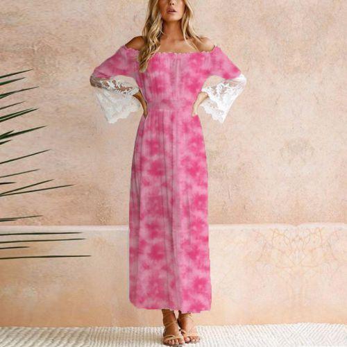 Tie and dye effet aquarelle - Fond rose pastel