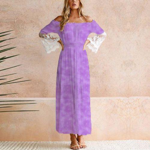 Tie and dye effet aquarelle - Fond violet