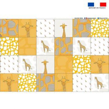 Coupon éponge pour lingettes démaquillantes motif girafe - Création Anne Clmt