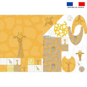 Coupon éponge kit puériculture motif girafe - Création Anne Clmt