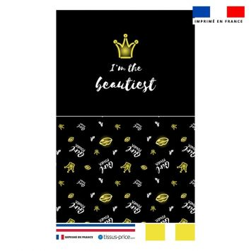 Kit pochette motif girl power effet néon jaune