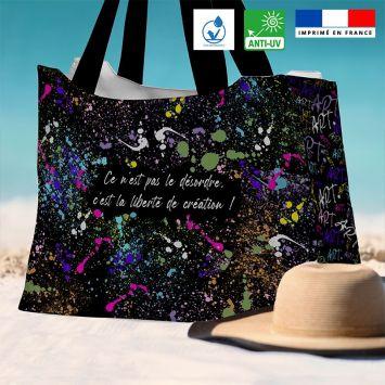 Kit sac de plage imperméable motif tâche de peinture - Queen size