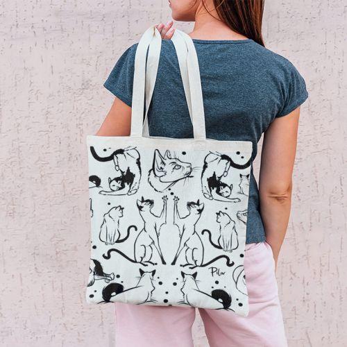 Coupon 45x45 cm motif chats - Création Pilar Berrio