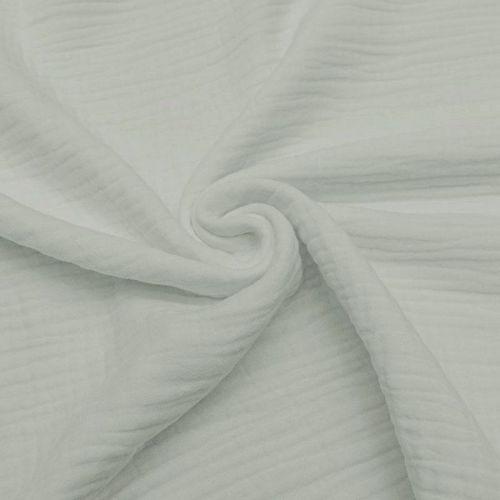 Triple gaze de coton gris perle