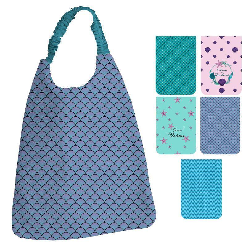 Lot de 5 coupons éponge pour serviettes de table pour enfant motif sirène