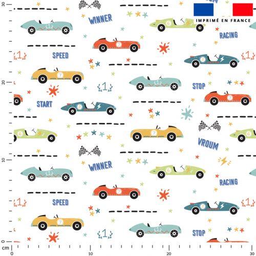 Course de voitures - Fond blanc