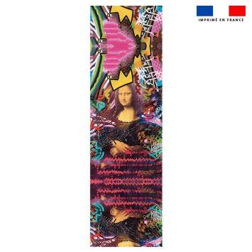 Coupon 45x150 cm tissu imperméable multicolore motif graffiti portrait pour transat - Création Alex Z