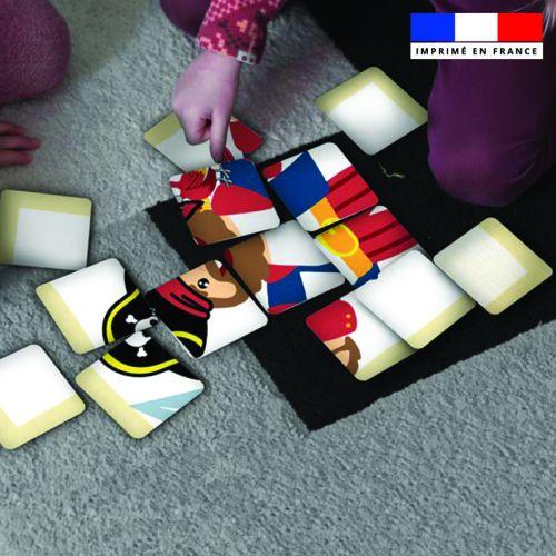Patron imprimé pour jeu de puzzle 2 en 1 motif pirate