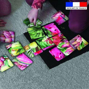 Patron imprimé pour jeu de puzzle 2 en 1 motif summer paradise