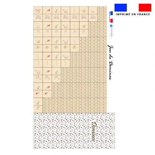 Patron imprimé pour jeu de dominos motif boho
