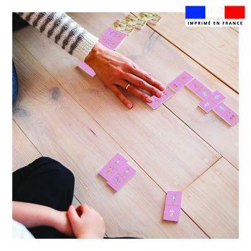Patron imprimé pour jeu de dominos motif licorne