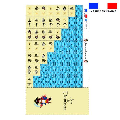 Patron imprimé pour jeu de dominos motif pirate